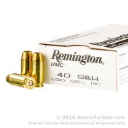 250 Rounds of 180gr MC .40 S&W Ammo by Remington