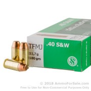 50 Rounds of 180gr TMJ .40 S&W Ammo by Sellier & Bellot