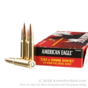 20 Rounds of 124gr FMJ 7.62x39mm Ammo by Federal