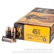 50 Rounds of 230gr FMJ .45 ACP Ammo by Browning BPT