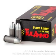 50 Rounds of 115gr FMJ 9mm Ammo by Tula
