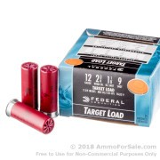 25 Rounds of 1 1/8 ounce #9 shot 12ga Ammo by Federal