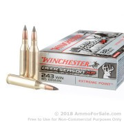 20 Rounds of 95gr Polymer Tipped .243 Win Ammo by Winchester  Deer Season XP