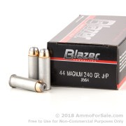 50 Rounds of 240gr JHP .44 Mag Ammo by Blazer