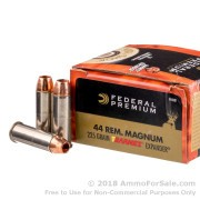20 Rounds of 225gr Barnes Expander SCHP .44 Mag Ammo by Federal Vital-Shok