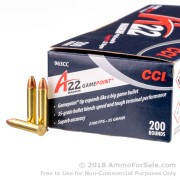 200 Rounds of 35gr GamePoint JSP .22 WMR Ammo by CCI