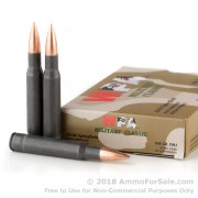 20 Rounds of 168gr FMJ 30-06 Springfield Ammo by Wolf Military Classic