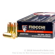 1000 Rounds of 165gr CMJ .40 S&W Ammo by Fiocchi