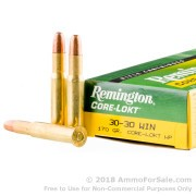 20 Rounds of 170gr HP 30-30 Win Ammo by Remington