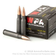 20 Rounds of 145gr FMJ .308 Win Ammo by Wolf WPA Polyformance
