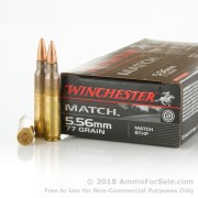 20 Rounds of 77gr HPBT 5.56x45 Ammo by Winchester