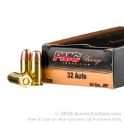 1000 Rounds of 60gr JHP .32 ACP Ammo by PMC