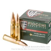 20 Rounds of 124gr FMJ 7.62x39mm Ammo by Fiocchi