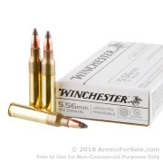 20 Rounds of 50gr Frangible 5.56x45 Ammo by Winchester