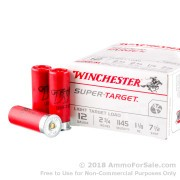 """250 Rounds of 2-3/4"""" 1 1/8 ounce #7 1/2 shot 12ga Ammo by Winchester Super-Target"""