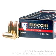 50 Rounds of 147gr FMJ 9mm Ammo by Fiocchi