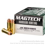 20 Rounds of 200gr SCHP .44 Mag Ammo by Magtech