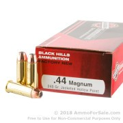 50 Rounds of 240gr JHP .44 Mag Ammo by Black Hills Ammunition