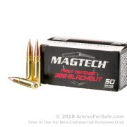 20 Rounds of 123gr FMJ .300 AAC Blackout Ammo by Magtech