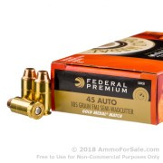 50 Rounds of 185gr FMJ-SWC .45 ACP Ammo by Federal Match