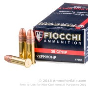 50 Rounds of 38gr CPHP .22 LR Ammo by Fiocchi