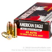50 Rounds of 230gr TMJ .45 ACP Ammo by Federal