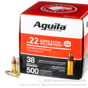 500 Rounds of 38gr CPHP .22 LR Ammo by Aguila