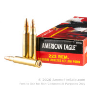 20 Rounds of 50gr JHP .223 Ammo by Federal