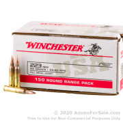 150 Rounds of 55gr FMJ .223 Ammo by Winchester