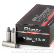 50 Rounds of 158gr LRN .38 Spl Ammo by CCI