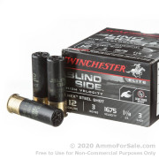 """25 Rounds of 3"""" 1 1/8 ounce #3 shot 12ga Ammo by Winchester Blind Side"""
