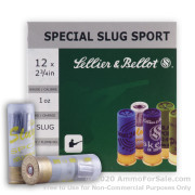 25 Rounds of 1 ounce Rifled Slug 12ga Ammo by Sellier & Bellot