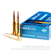 200 Rounds of 150gr SP .308 Win Ammo by Prvi Partizan