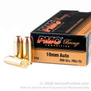 50 Rounds of 200gr FMJTC 10mm Ammo by PMC