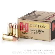 250 Rounds of 124gr JHP 9mm Ammo by Hornady