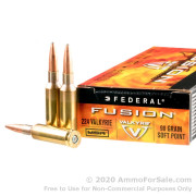 20 Rounds of 90gr SP 224 Valkyrie Ammo by Federal