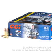 300 Rounds of 36gr CPHP .22 LR Ammo by CCI
