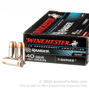 50 Rounds of 180gr JHP .40 S&W Ammo by Winchester - Law Enforcement Trade-In