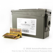 420 Rounds of 62gr FMJ M855 5.56x45 Ammo by Federal on Stripper Clips