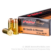 50 Rounds of 165gr FMJFN .40 S&W Ammo by PMC