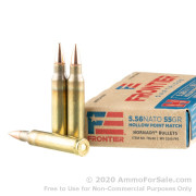 20 Rounds of 55gr HP Match 5.56x45 Ammo by Hornady
