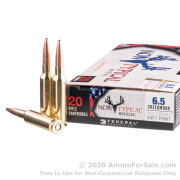 20 Rounds of 140gr SP 6.5 Creedmoor Ammo by Federal