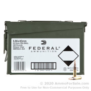 420 Rounds of 55gr FMJBT 5.56x45 Ammo by Federal