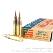 500 Rounds of 55gr FMJ 223 Rem Ammo by Hornady