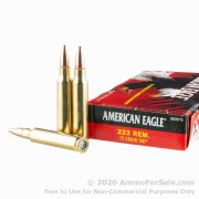 500 Rounds of 75gr TMJ .223 Rem Ammo by Federal