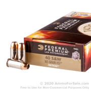 50 Rounds of 165gr HST JHP .40 S&W Ammo by Federal