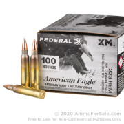 100 Rounds of 55gr FMJBT .223 Ammo by Federal