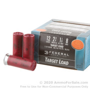 250 Rounds of 1 1/8 ounce #8 shot 12ga Ammo by Federal