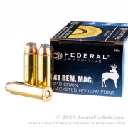 20 Rounds of 210gr JHP .41 Rem Mag Ammo by Federal