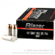 50 Rounds of 180gr FMJ .40 S&W Ammo by CCI